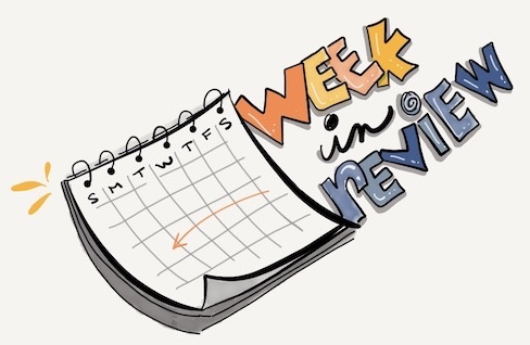hand drawn image of a calendar with the words week in review